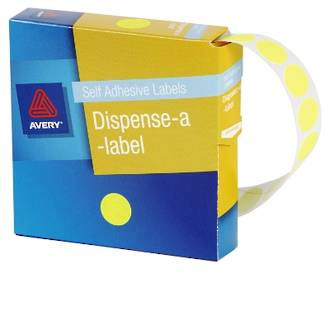 Avery DMC14FY 14mm Circle Fluoro Yellow Labels