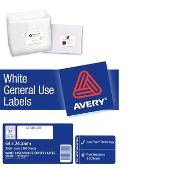 Avery L7157 General Use (Dl33) 64x24mm
