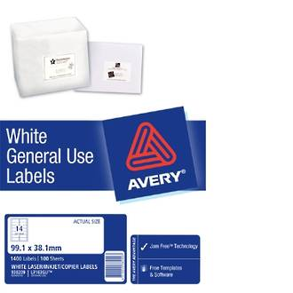 Avery L7163 General Use (Dl14) 99x38mm