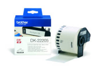 Brother DK22205 White Continuous Length Label 62mm x 30m