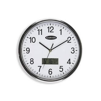 Carven LCD Date Clock 28.5cm White