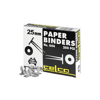 Celco Paper Binders 25mm Box 200