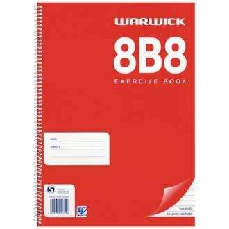 Warwick Spiral Exercise Book 8B8 Ruled 7mm