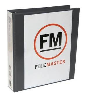 FM Overlay Binder A4/2/38 Black Insertable Cover