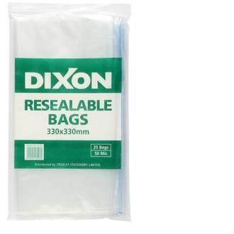 Dixon Resealable Bags 330X330mm