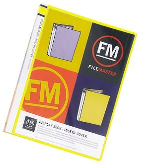 FM Display Book A4 Yellow 20 Pocket Insert Cover