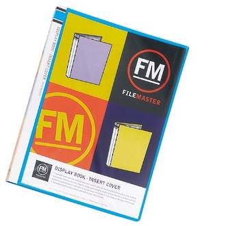 FM Display Book A4 Vivid Ice Blue 20 Pocket Insert Cover