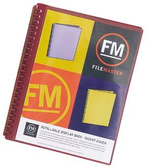 FM Refillable Display Book Burgundy 20 Pocket Insert Cover