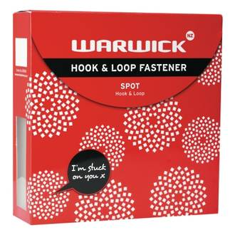 Warwick Hook & Loop Spots 225 White 22mm
