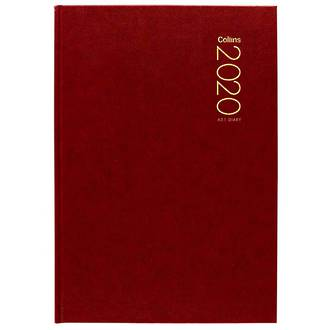 Collins A51 Red Diary Even Year