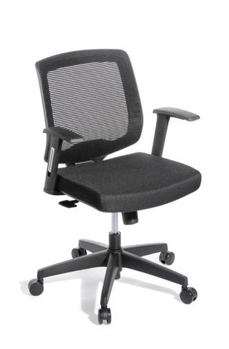 EOS Media Meeting Chair Synchro Mesh Back Black Seat