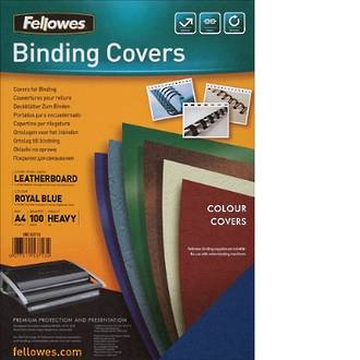 Fellowes Cover Textured Blue 100 Pack