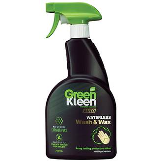 Green Kleen Waterless Car Wash and Wax 750ml Trigger Bottle