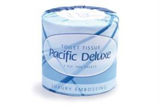Pacific Deluxe Toilet Roll 2 Ply D2-400 Ctn48