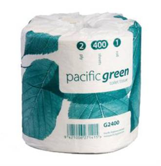 Pacific Green Toilet Roll 2 Ply G2-400 Each