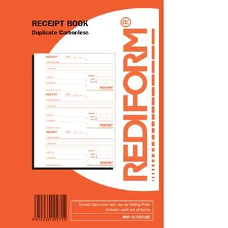 Rediform Book R/RECLGE Receipt Large