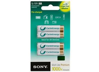 Sony AAA Improved Ni-MH Rechargeable x 4