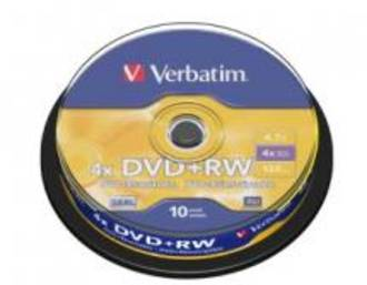 Verbatim DVD+RW 4.7GB 10Pk Spindle