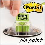 3M Post-it Flags Sign & Date 200/Disp