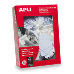 Apli 391 Strung Tickets 28x43mm White 500pk