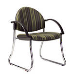 CS Venice Chair Chrome Sled with Arms