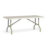Life Folding Rectangle Table 1.2m - 1 Piece Solid Top