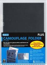 Plus FL-127CH Camouflage L Shaped Folder Clear